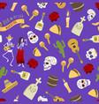 dia de los muertos day of the dead seamless vector image