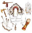Ethnic native american set colored vector image vector image