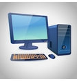 Computer and peripheral blue vector image