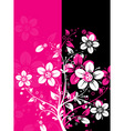 floral abstract background vector vector image