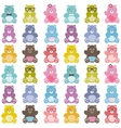 Pattern with cute teddy bears vector image
