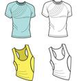 men t-shirt and football shirt vector image vector image