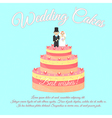 Wedding Cakes Best wishes vector image vector image