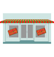 Super sale at store Shop building with empty vector image