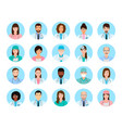 avatars characters doctors and nurses set medical vector image