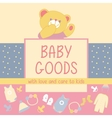 Baby Goods Teddy bear vector image
