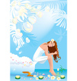 Beautiful woman in spa center vector image