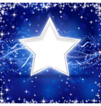 Blue silver Christmas star background vector image
