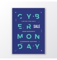 Cyber Monday Minimal Typography Poster or Banner vector image