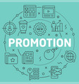 green line flat circle promotion vector image