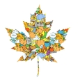 Maple leaf design elements vector image