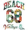 summer beach california artwork tropical leaves vector image