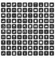 100 interior icons set black vector image