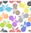 bicycle seamless pattern freehand vector image