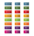 Discount sale new button set vector image vector image