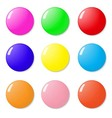 Magnets buttons color on a white background vector image