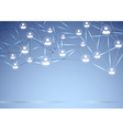 Social network background concept vector image