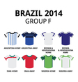 World Cup Brazil 2014 - group F teams football vector image