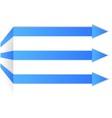 blue arrows on corner vector image