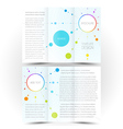 brochure design template trifold leaflet colored vector image
