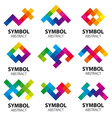 collection of abstract logos of the modules vector image vector image