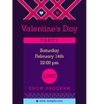 Flyer invitation to a party Valentine Day vector image