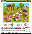 counting game cartoon vector image