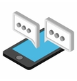 Mobile chatting isometric 3d icon vector image
