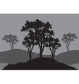 Silhouettes of three tress vector image