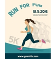 woman running jogging - colorful vector image