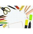 set office supplies vector image