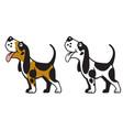 cartoon dog logo vector image