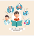 Education thinking concept Children holding books vector image