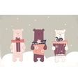 holiday of a cute polar bears vector image