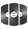 set of retro music vinyl records vector image