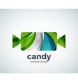 candy logo template vector image