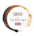Coffee stains with type design vector image vector image