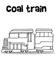 Hand draw of coal train transport vector image