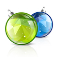 New Year Two Balls vector image vector image