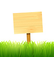 wooden board index vector image