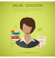 Online Education Concept vector image vector image