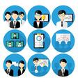 Business men concepts icon set vector image