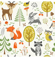 Cute forest pattern vector image vector image