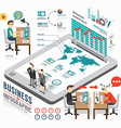 Infographic business template design isometric vector image