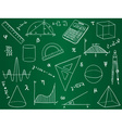 Mathematics - school supplies geometric shapes an vector image