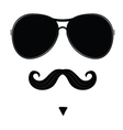 mustache and glasses on face vector image