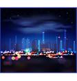 Night industrial landscape vector image