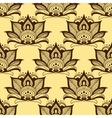 Persian brown paisley seamless floral pattern vector image