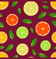 realistic detailed citrus background pattern vector image