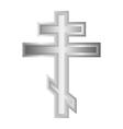 Religious orthodox cross icon vector image